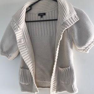 Cream colored cardigan short sleeved